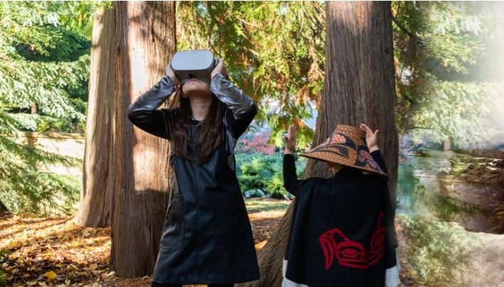 A project led by Amy Parent will use VR technology to teach Nisga'a language and culture. (Elahe Rajabi)